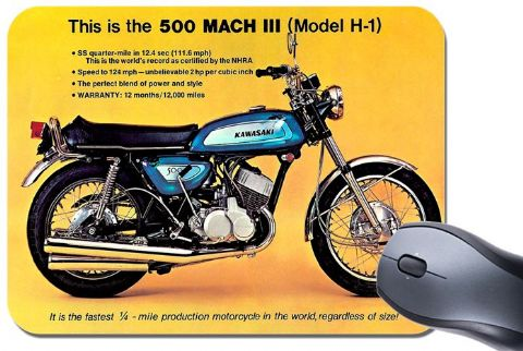 2 Stroke 500 MACH III  H1  Mouse Mat. Motorcycle Motorbike  Mouse pad